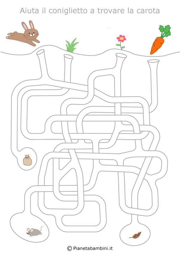 Labirinti per bambini dedicati alla pasqua da stampare for Enigmistica facile da stampare