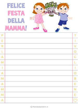 Letterina per la festa della mamma n. 1