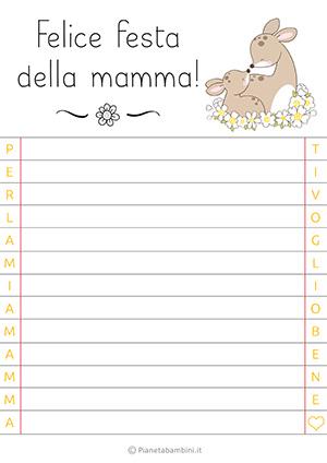 Letterina per la festa della mamma n. 15