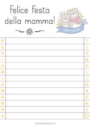 Letterina per la festa della mamma n. 16