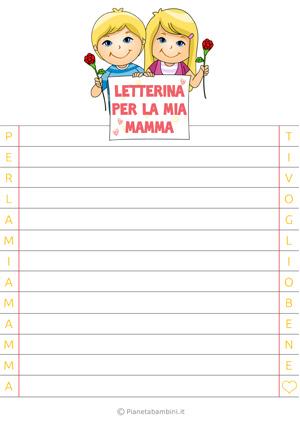 Letterina per la festa della mamma n. 5