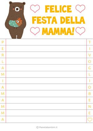 Letterina per la festa della mamma n. 6