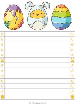 Immagine della letterina di Pasqua n.15