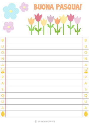 Immagine della letterina di Pasqua n. 3