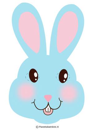 Immagine della maschera da coniglietto azzurro