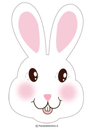 Immagine della maschera da coniglietto bianco
