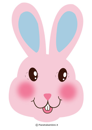 Immagine della maschera da coniglietto rosa