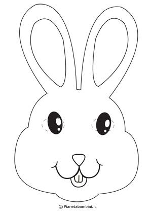 Immagine della maschera da coniglietto da colorare