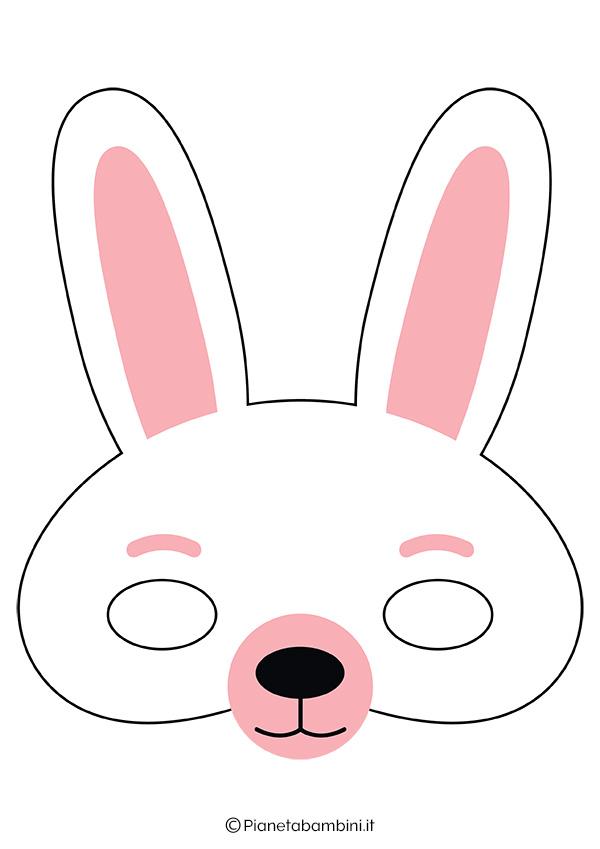 Immagine della maschera da coniglio bianco