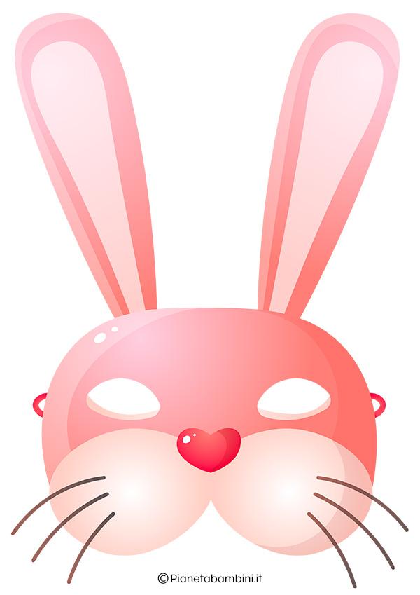 Immagine della maschera da coniglio rosa