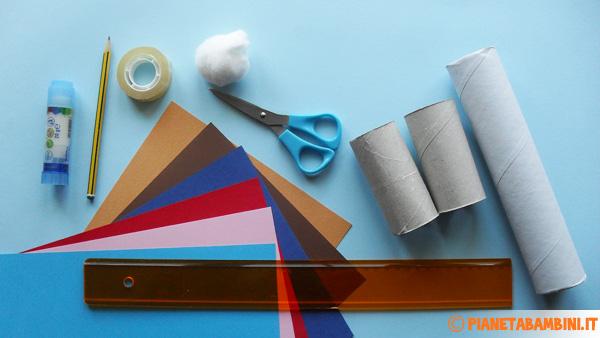 Materiale necessario per la creazione dei coniglietti di carta