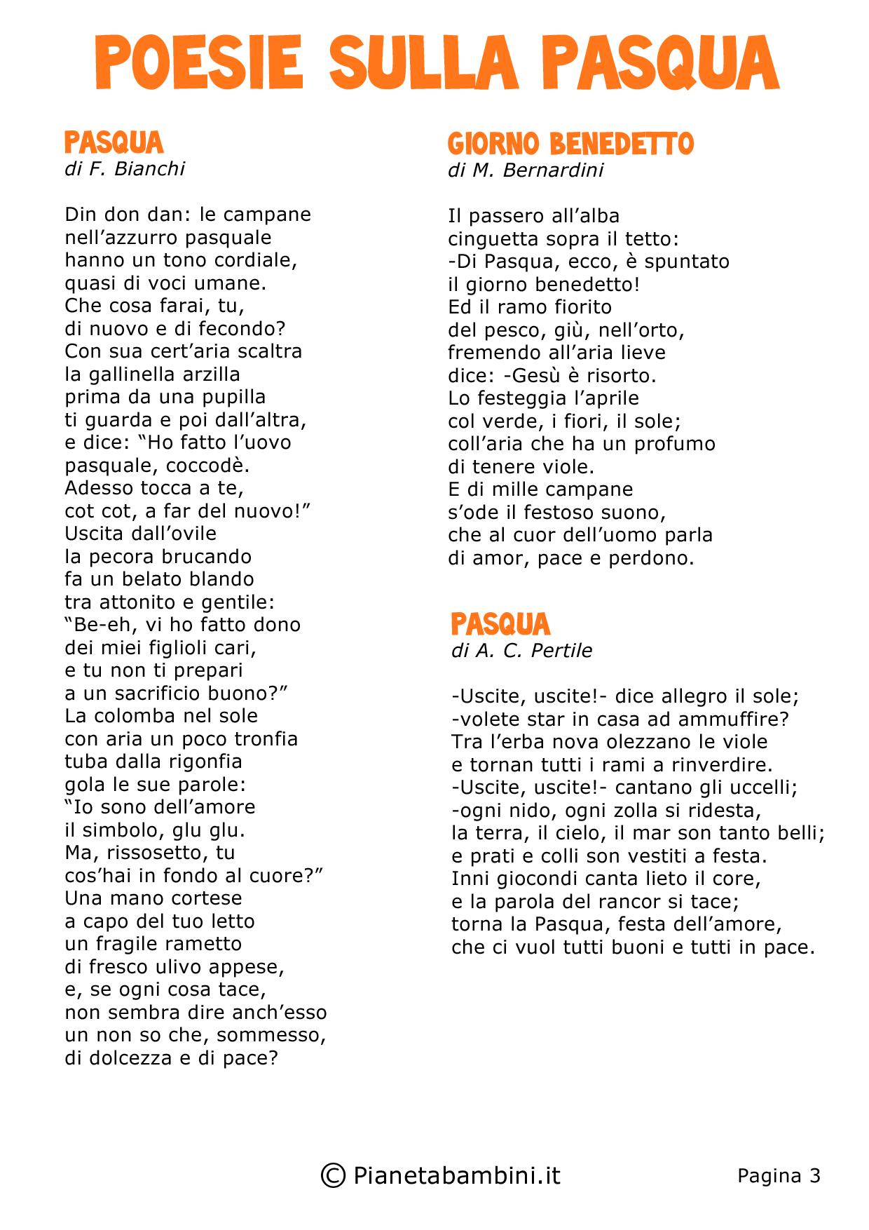 Super Poesie di Pasqua per Bambini della Scuola Primaria | PianetaBambini.it LL96