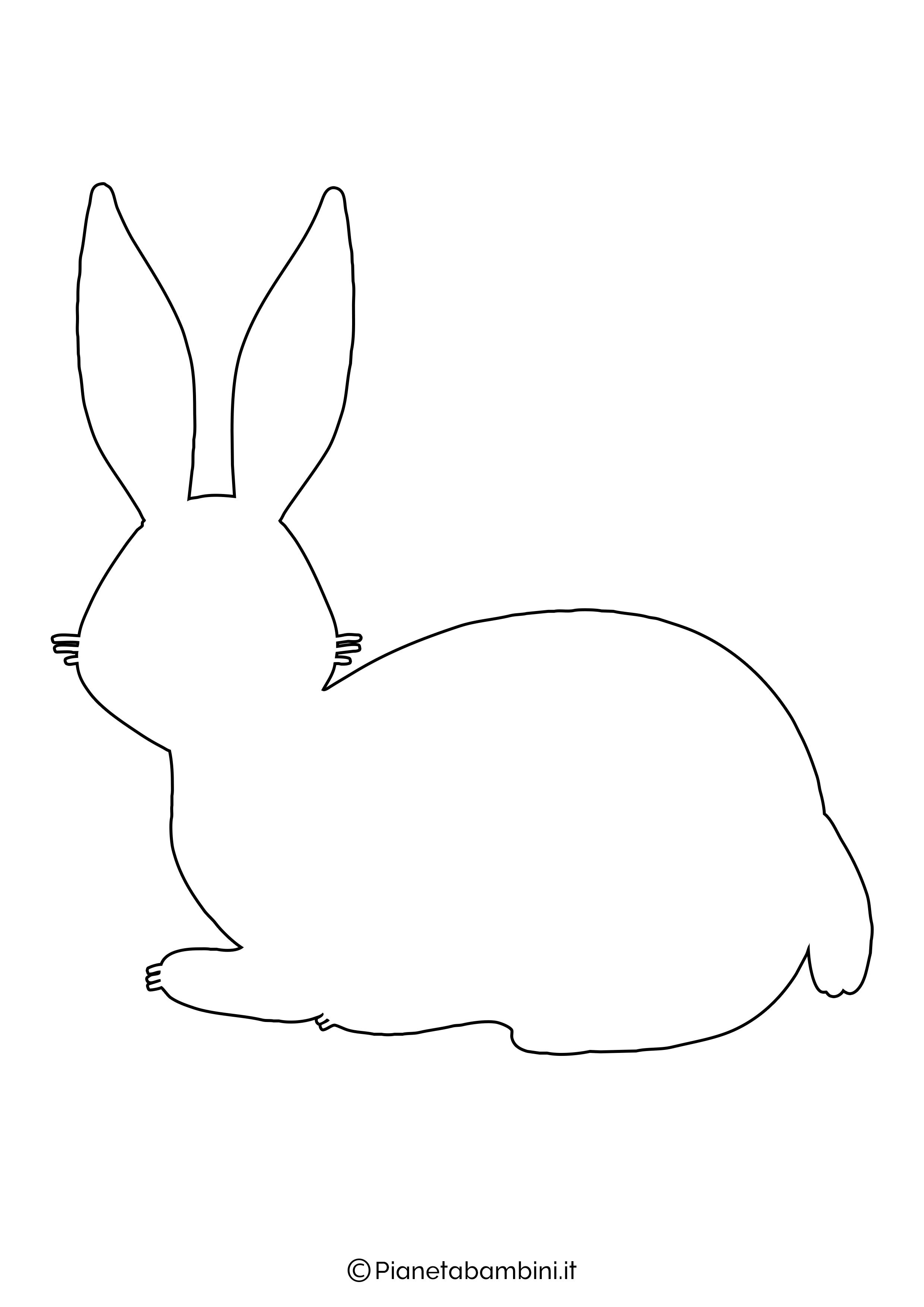 Sagome di coniglietti da stampare 07