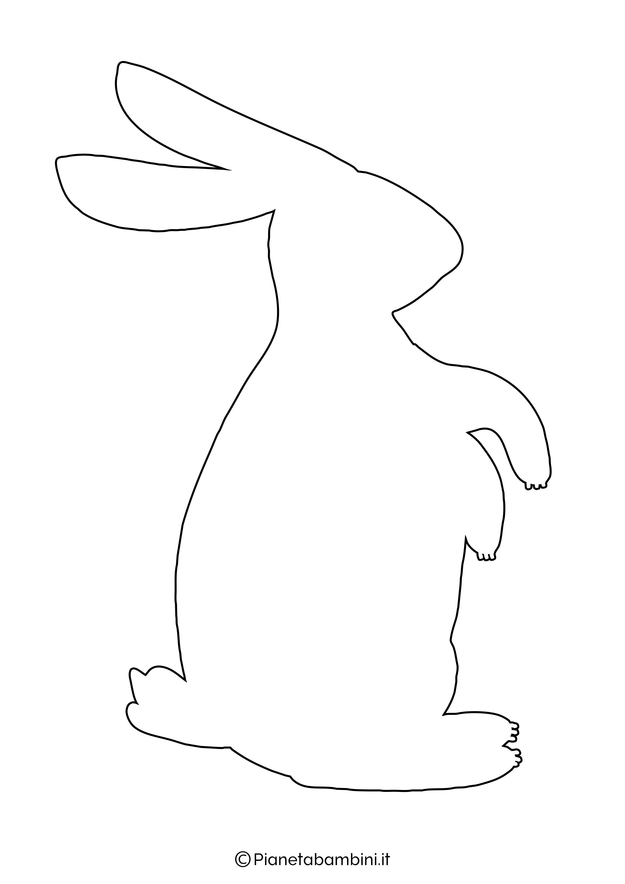 Sagome di coniglietti da stampare 08