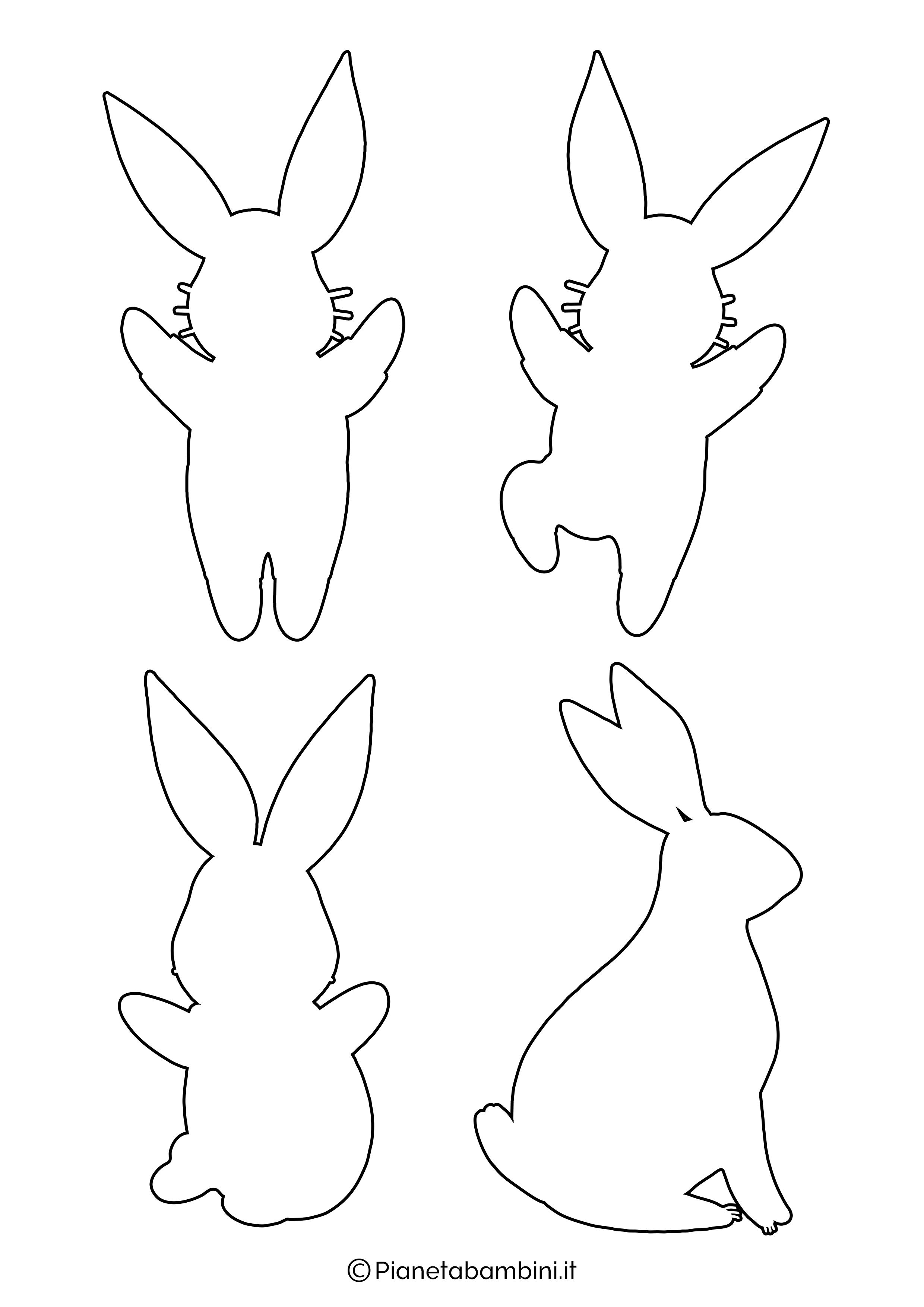 Sagome di coniglietti da stampare 09