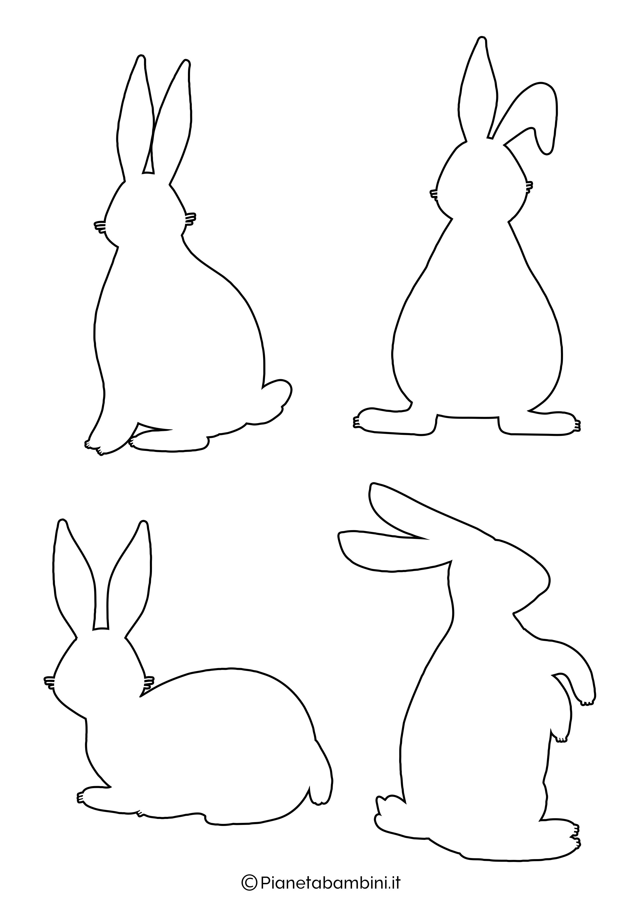 Sagome di coniglietti da stampare 10