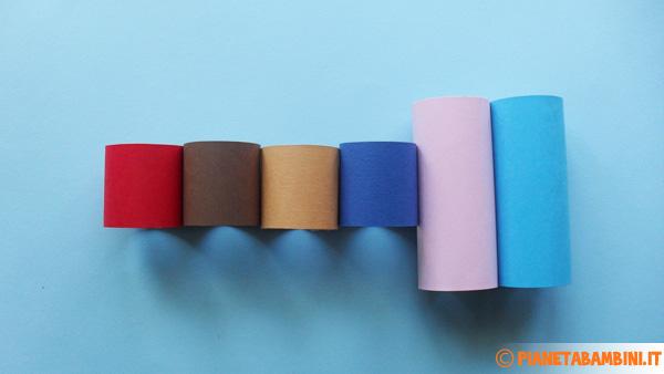 Rotoli Di Carta Colorata : Lavoretti di pasqua facili coniglietti con rotoli di carta