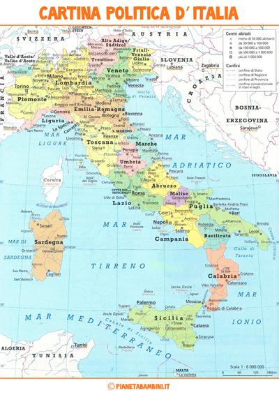 L Italia Cartina Politica.Italia Fisica Descrizione Della Penisola Italiana Territorio Politica Economia