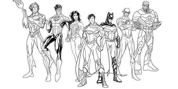 Disegni di supereroi da colorare