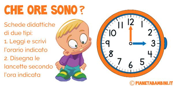 Esercizi per imparare a leggere l'orologio