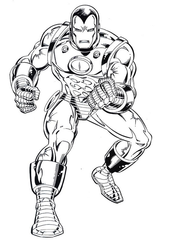 60 disegni di iron man da colorare for Iron man da colorare
