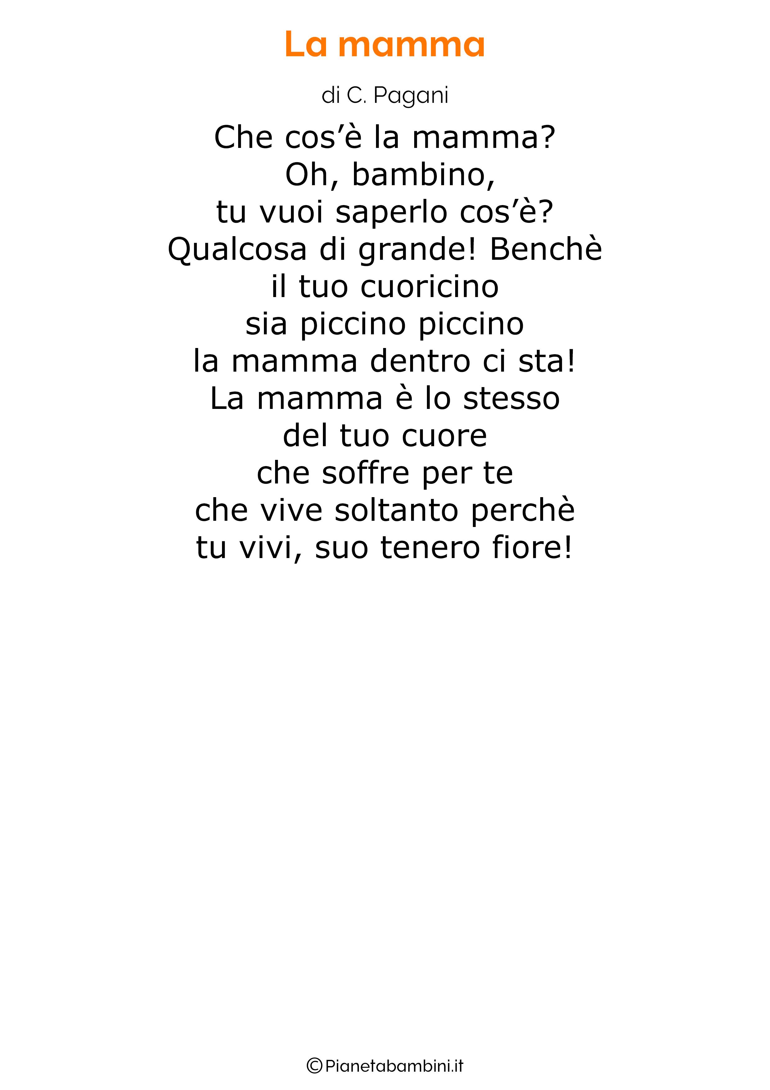 Poesia per la festa della mamma da stampare 14