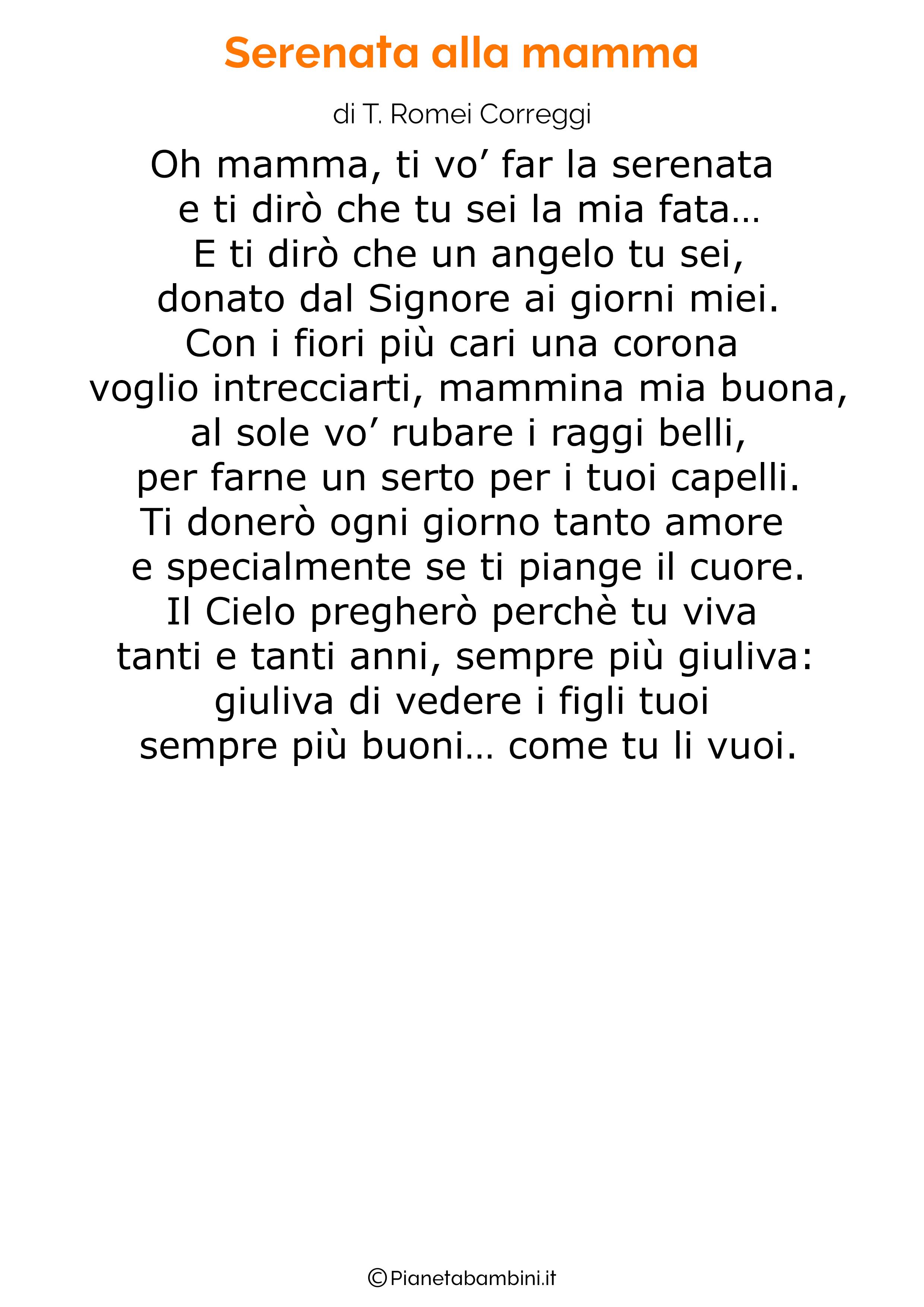 Poesia per la festa della mamma da stampare 15