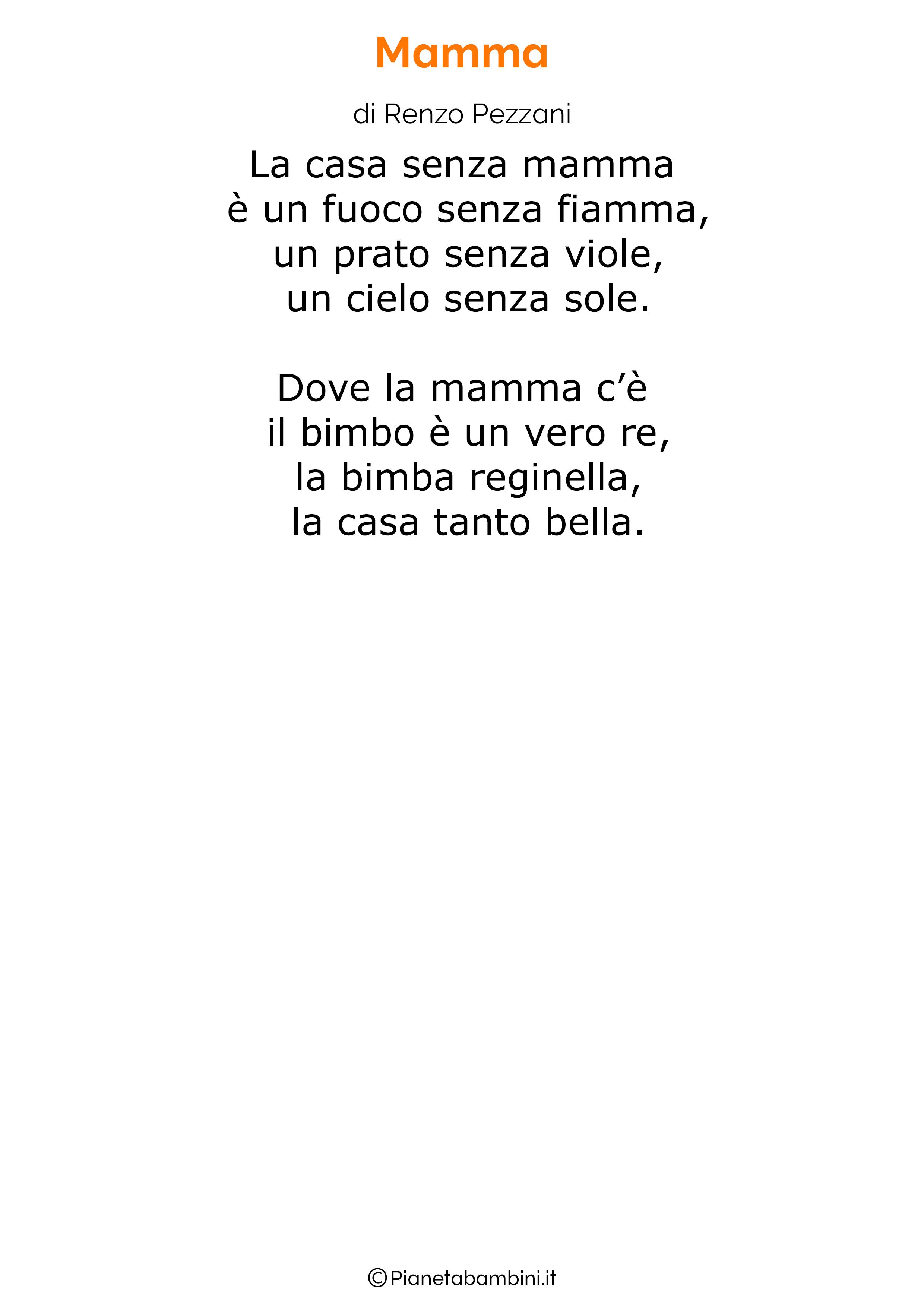 Poesia per la festa della mamma da stampare 18