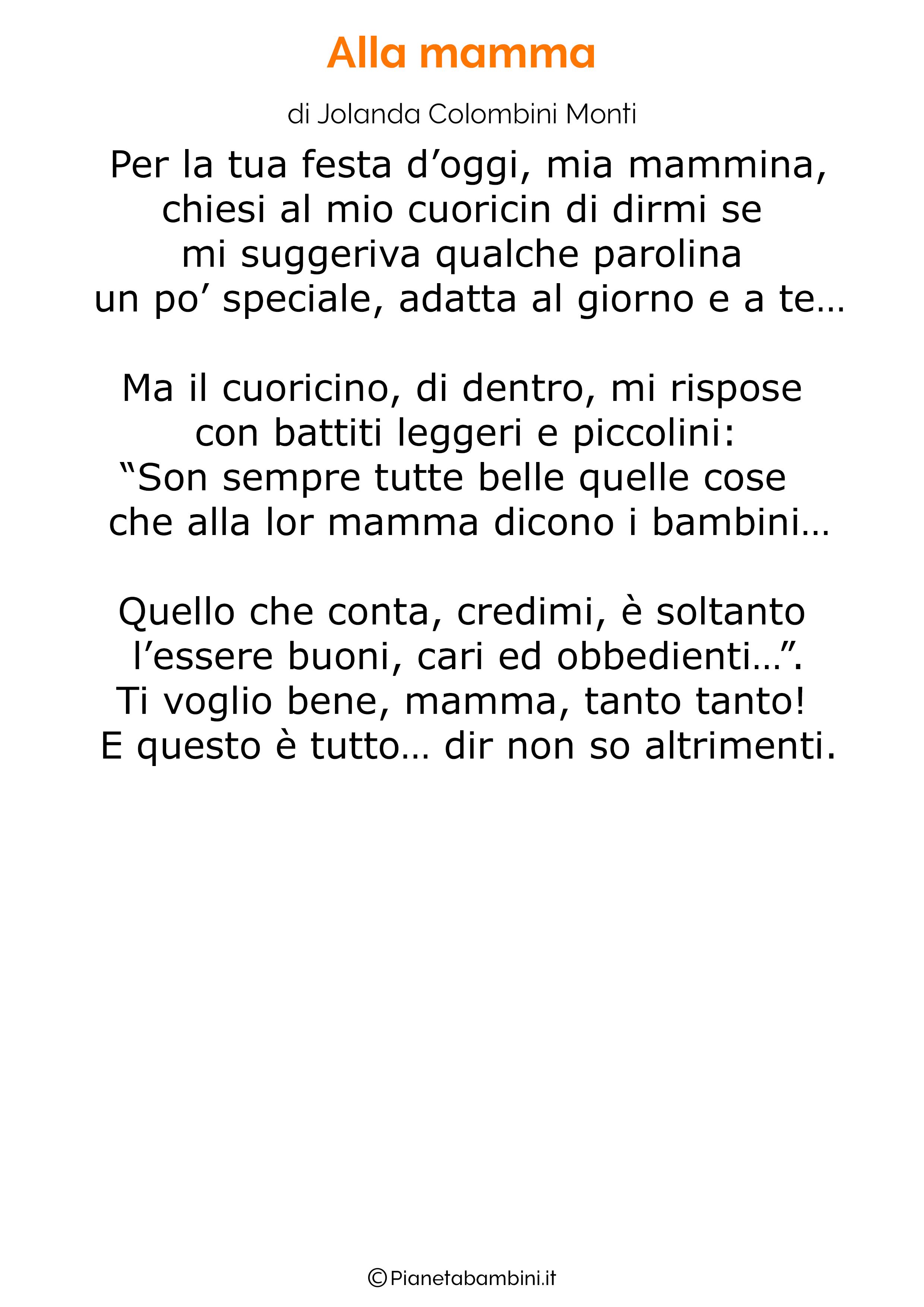 Poesia per la festa della mamma da stampare 21