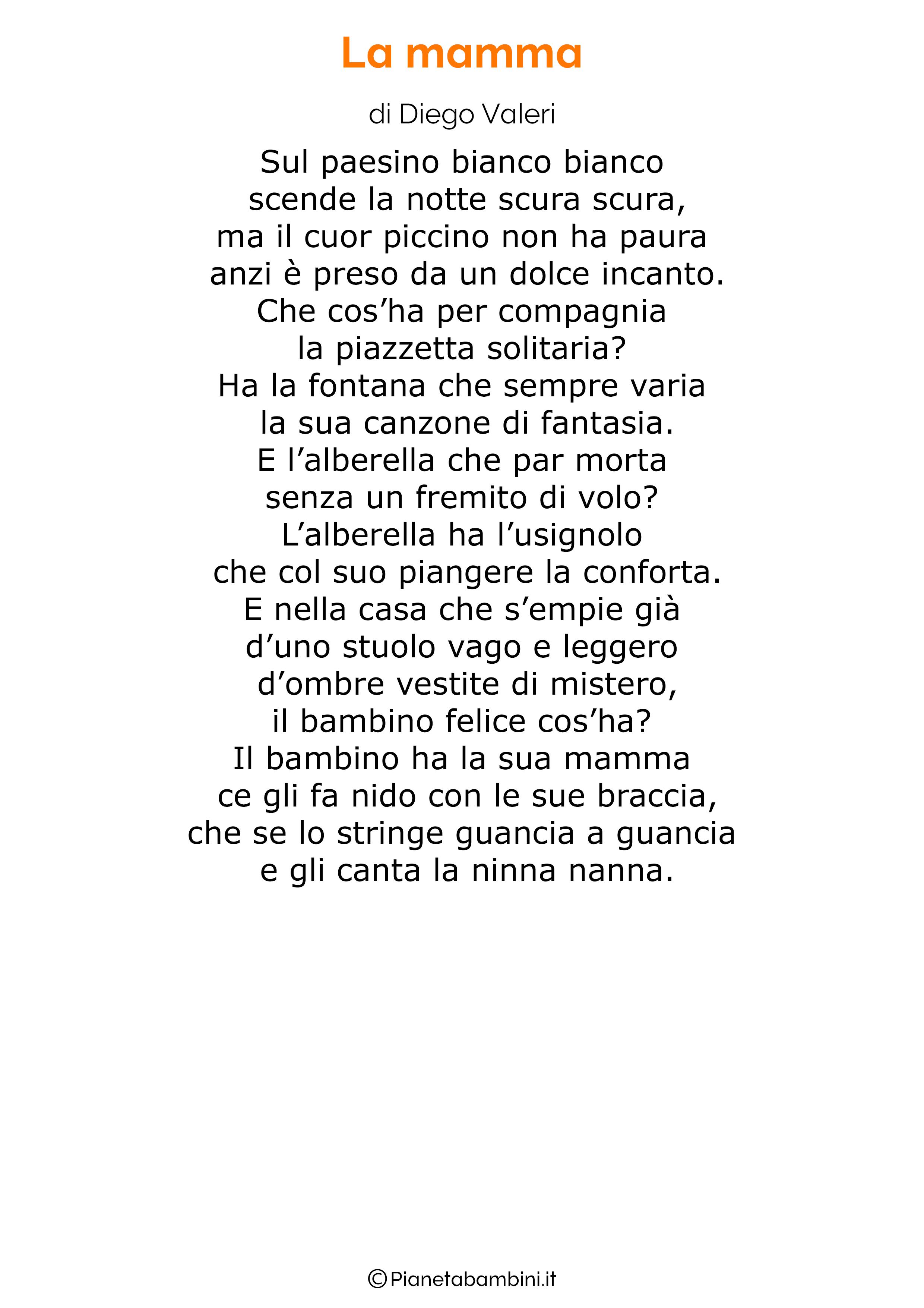 Poesia per la festa della mamma da stampare 28
