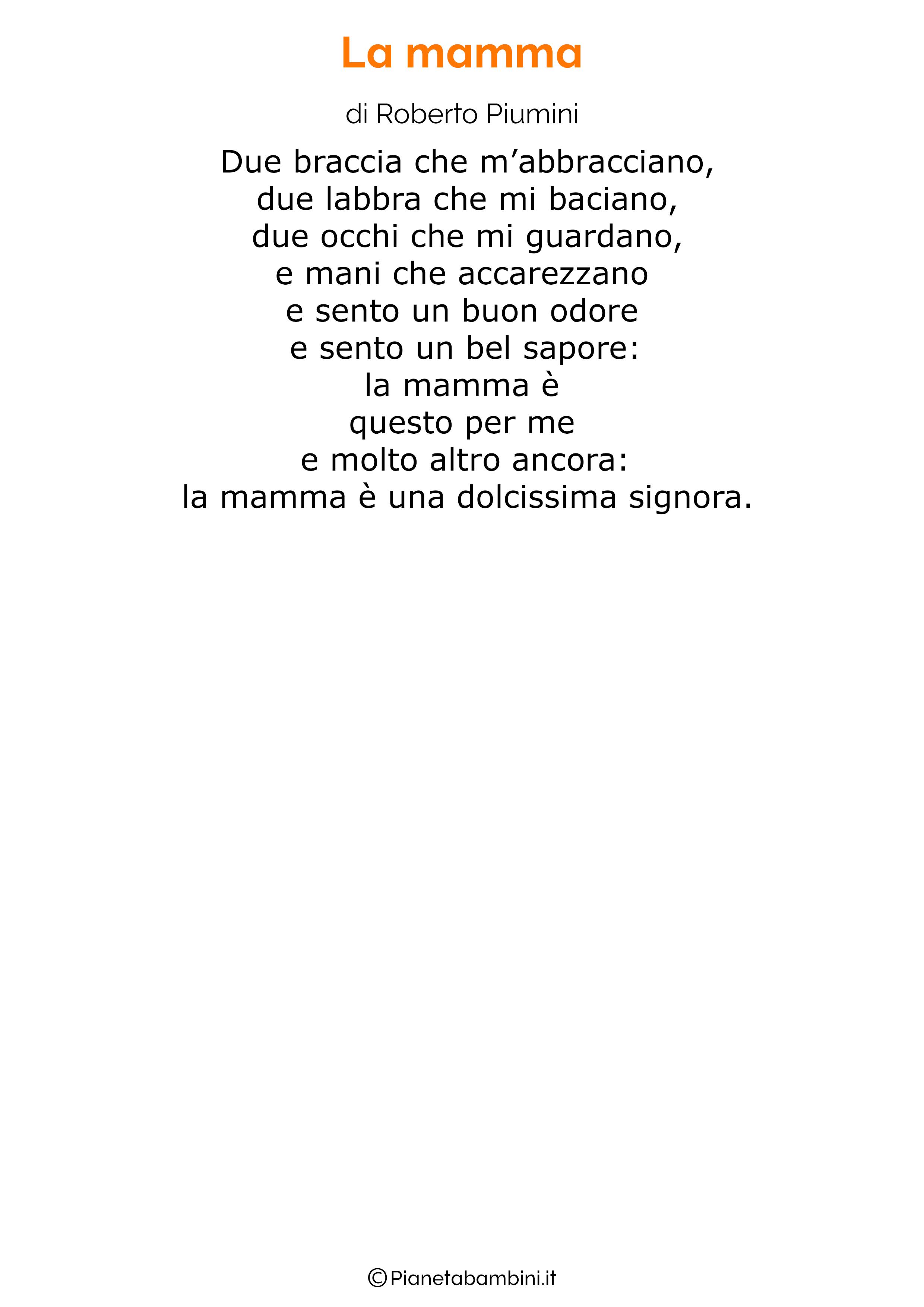 Poesia per la festa della mamma da stampare 29