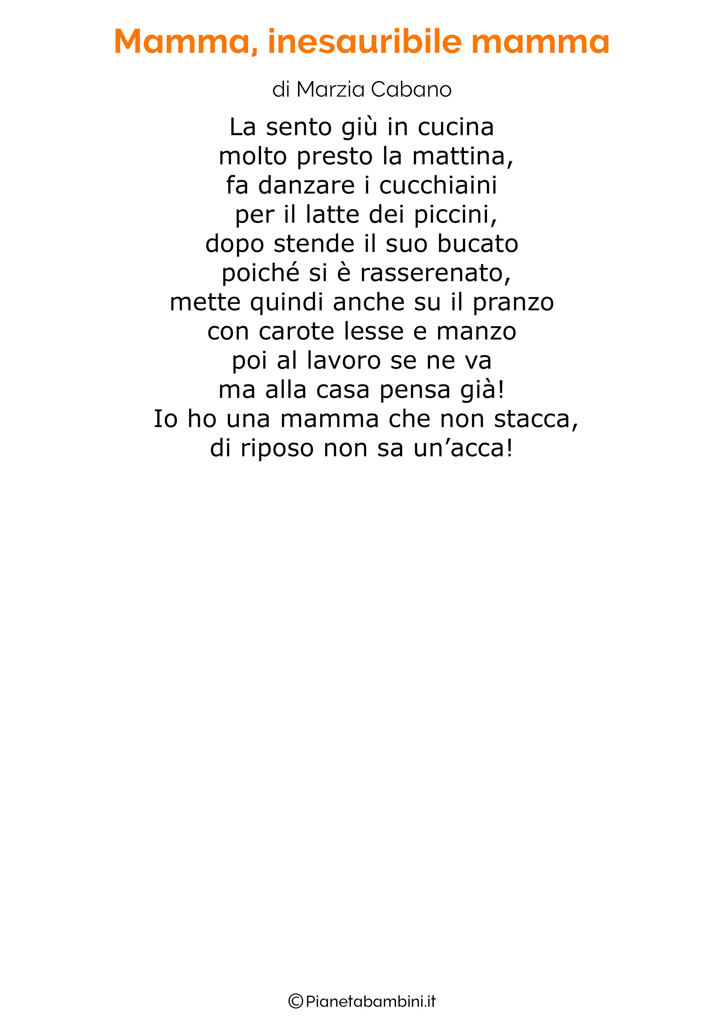 Poesia per la festa della mamma da stampare 31