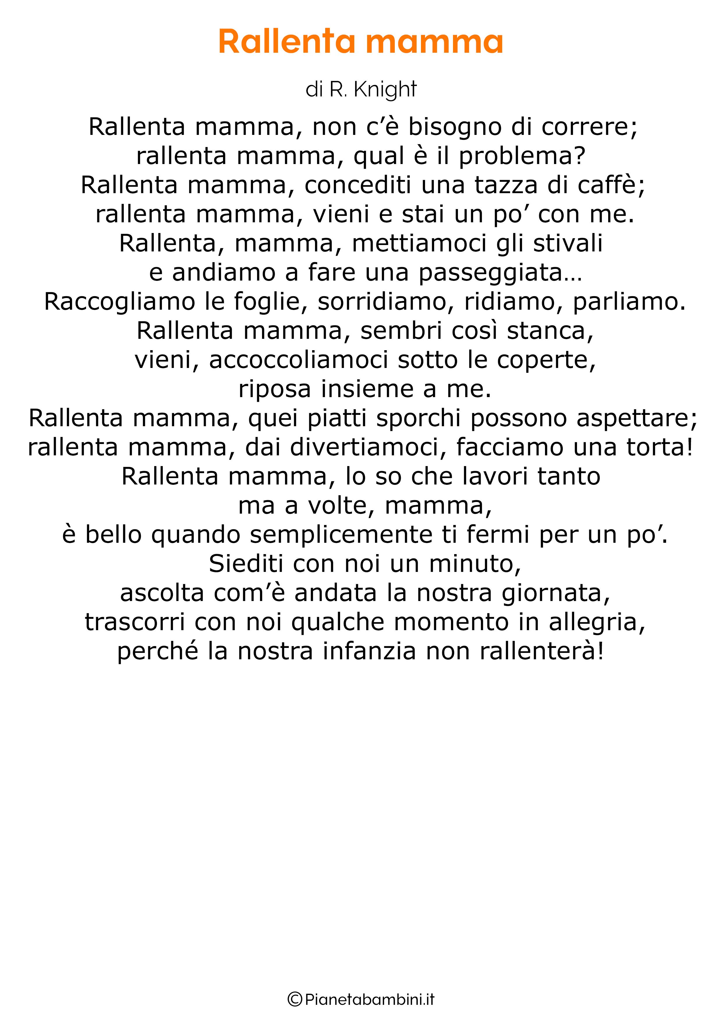 Poesia per la festa della mamma da stampare 33