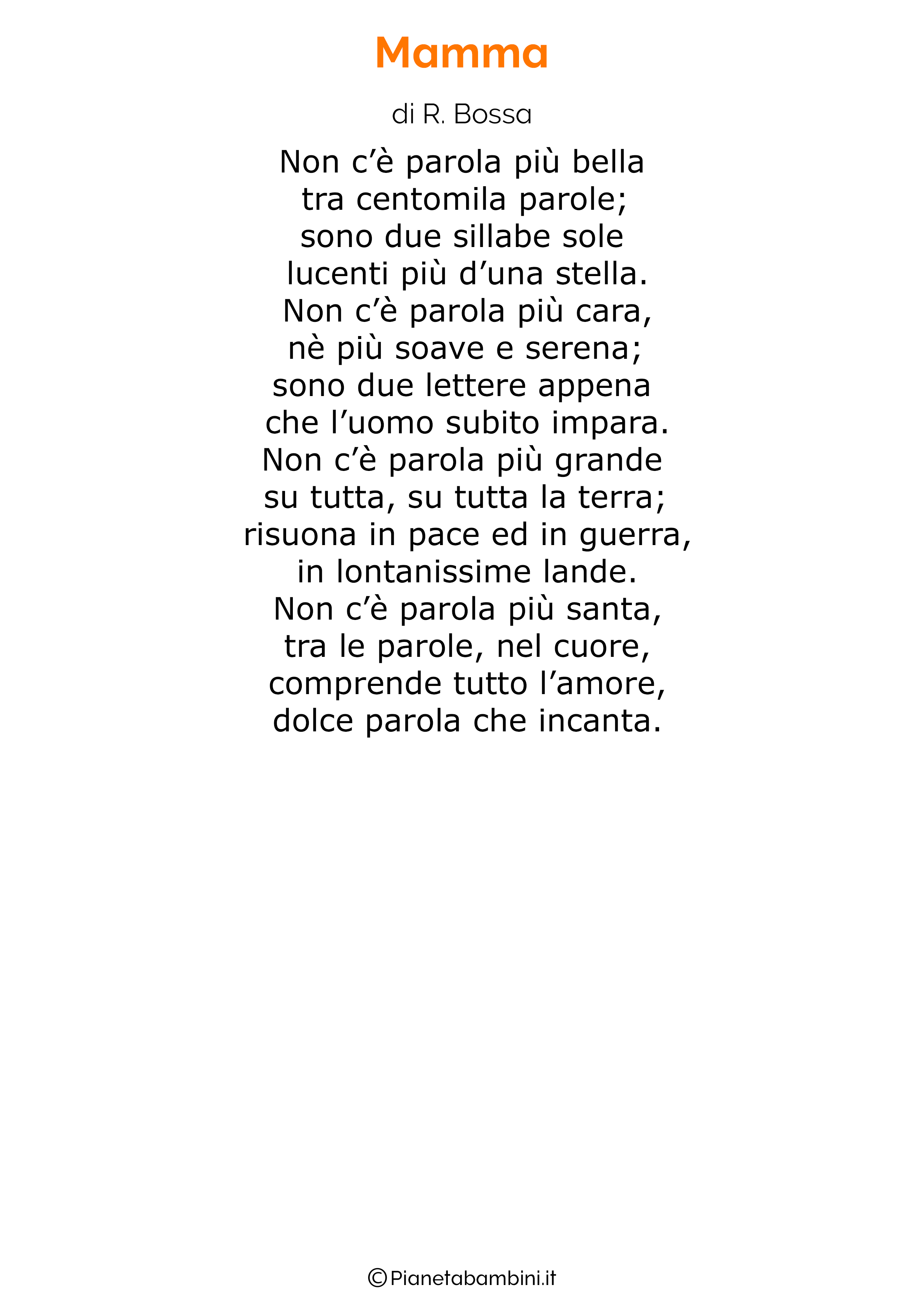 Poesia per la festa della mamma da stampare 35