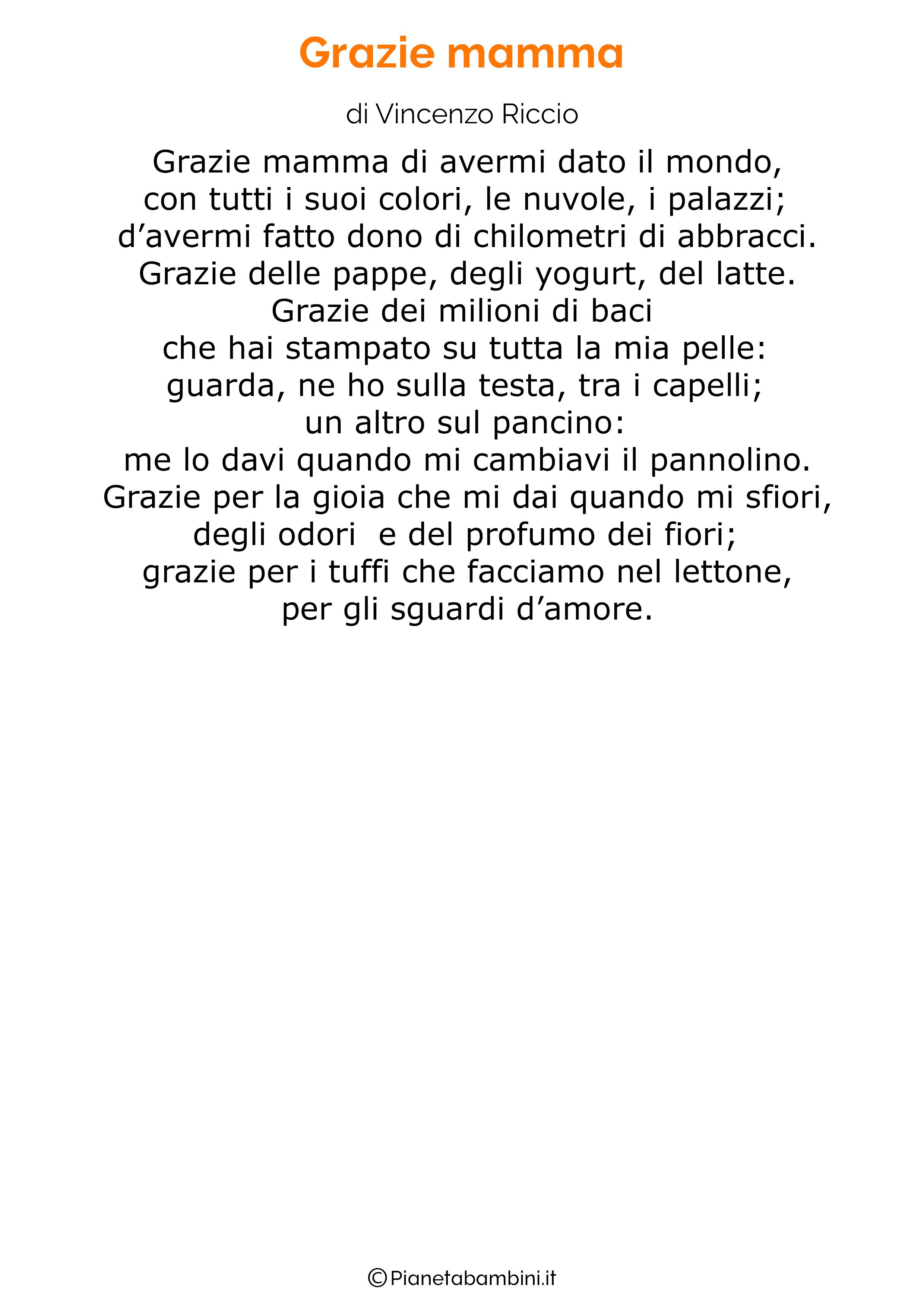 Poesia per la festa della mamma da stampare 36