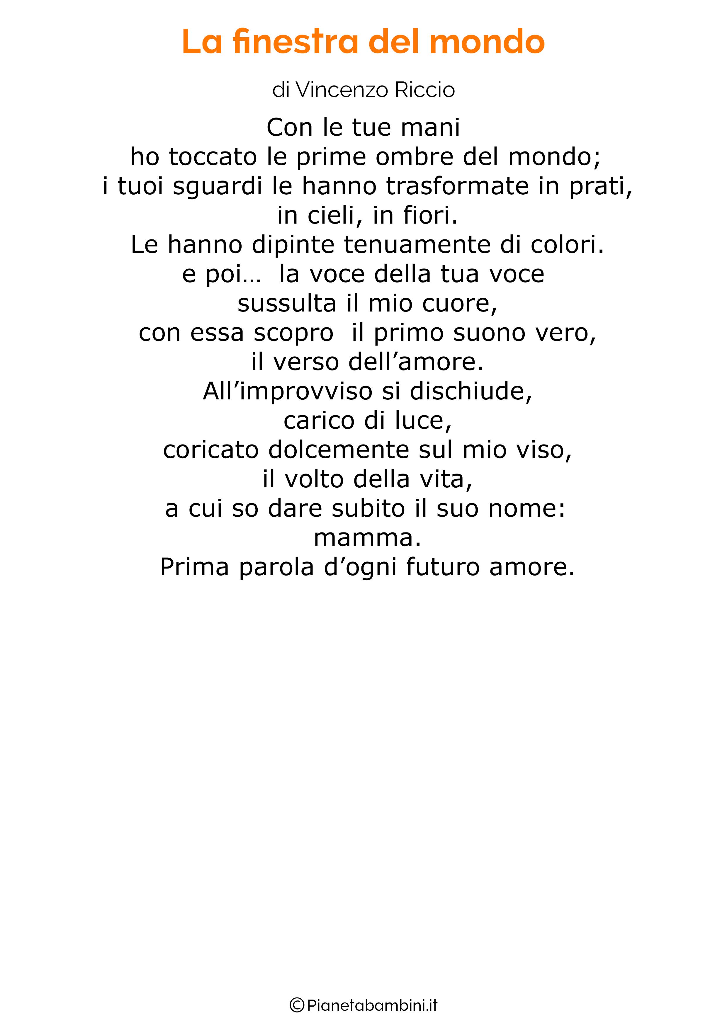 Poesia per la festa della mamma da stampare 38