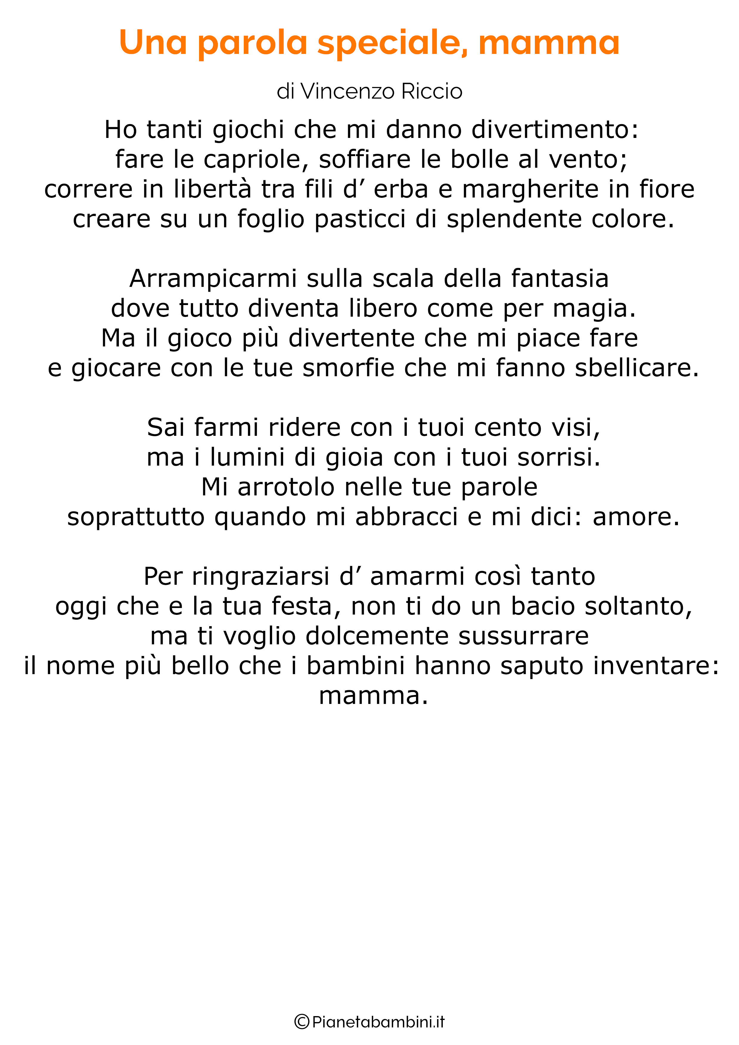 Poesia per la festa della mamma da stampare 39