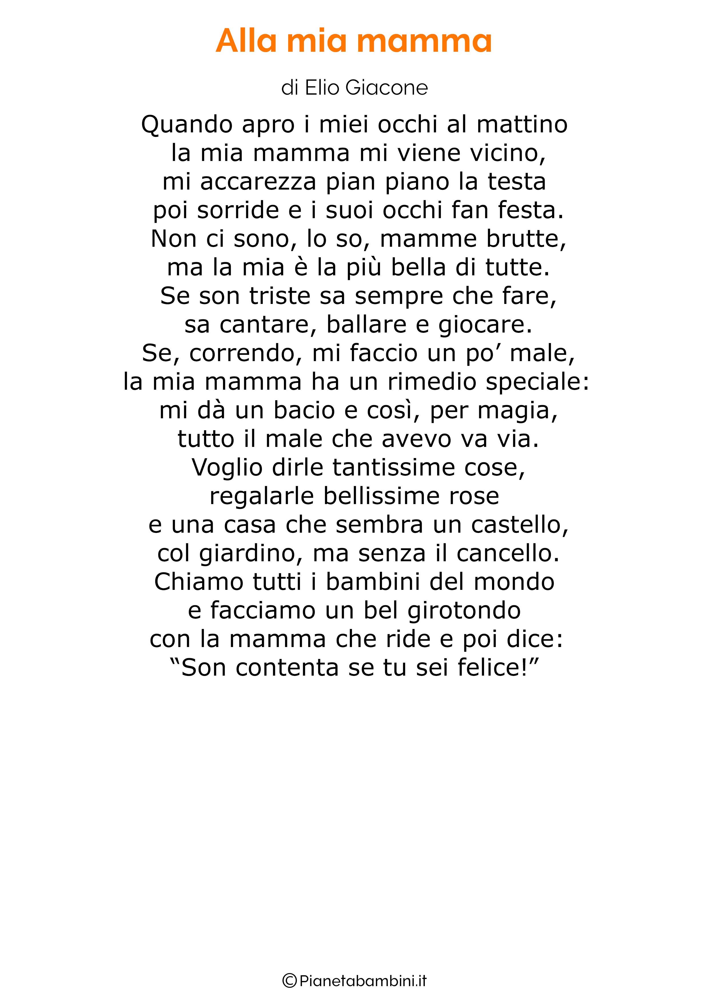 Poesia per la festa della mamma da stampare 40
