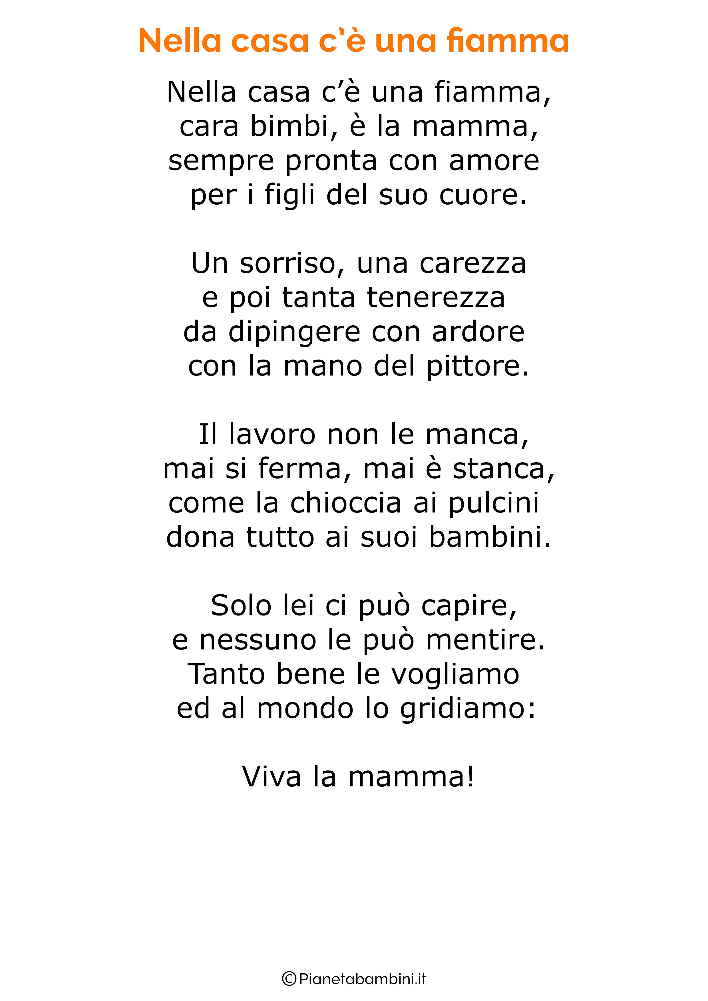 Poesia per la festa della mamma da stampare 45