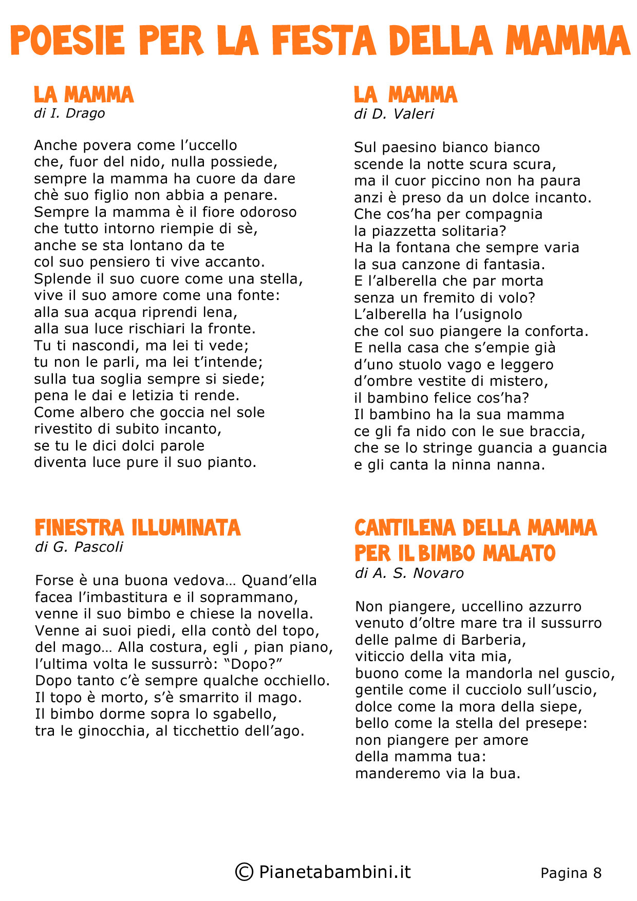 50 Poesie Per La Festa Della Mamma Per Bambini