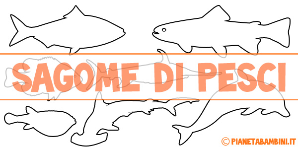 Sagome di pesci da colorare e ritagliare per bambini