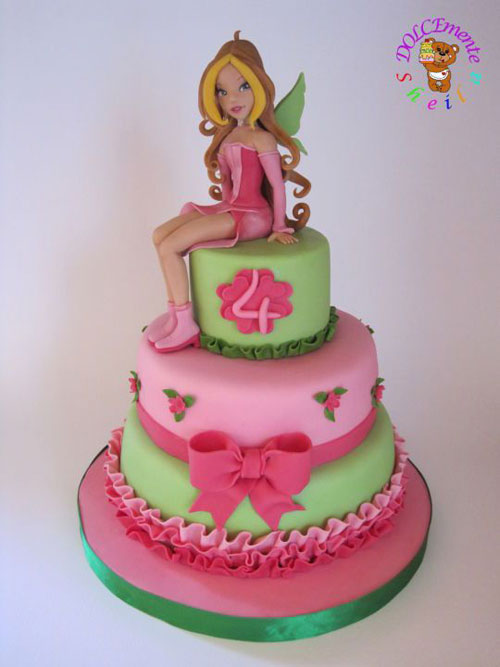 Foto della torta delle Winx n. 01