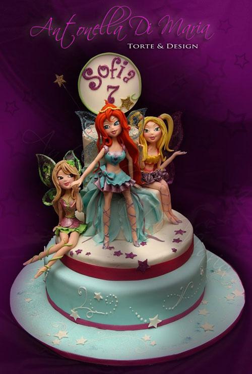 Foto della torta delle Winx n. 03