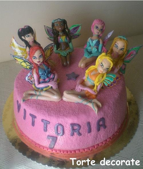 Foto della torta delle Winx n. 09