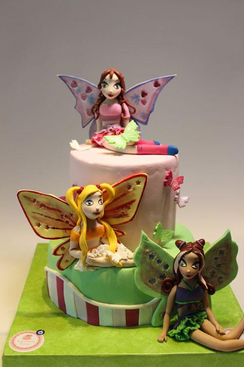 Foto della torta delle Winx n. 10