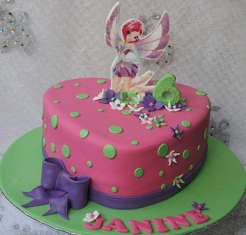Foto della torta delle Winx n. 12