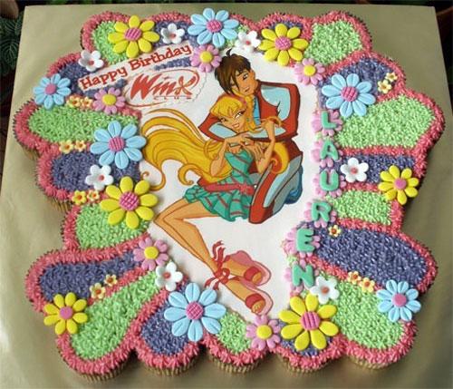 Foto della torta delle Winx n. 14