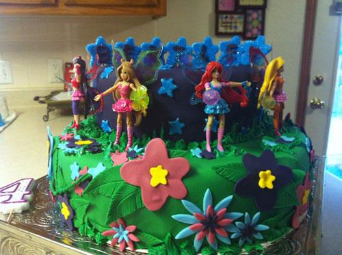 Foto della torta delle Winx n. 15