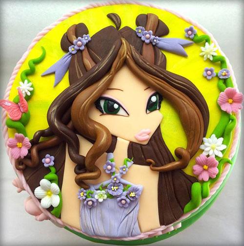 Foto della torta delle Winx n. 18