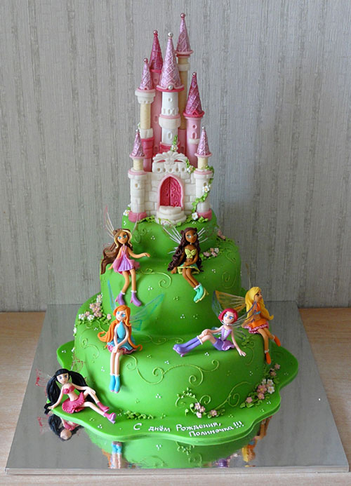 Foto della torta delle Winx n. 19
